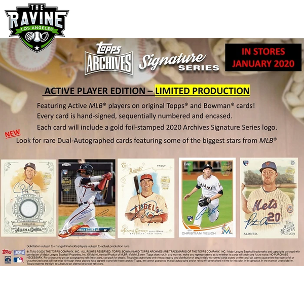 2020 Topps Archives Signature Series Personal Box