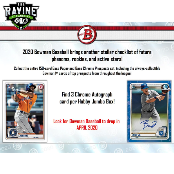 2020 Bowman 4 Jumbo Box + 6 Hobby Box Break #1