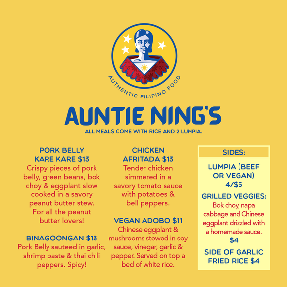 Auntie Ning's Entrees