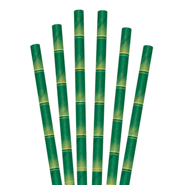 "5.75"" Bamboo Cocktail Paper Straws - 7000 ct."