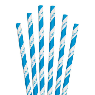 "5.75"" StrawLESS OCEAN Cocktail Paper Straws - 7000 ct."