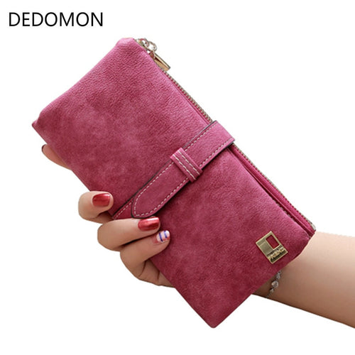 Leather Zipper Clutch Wallet (8 Colors)