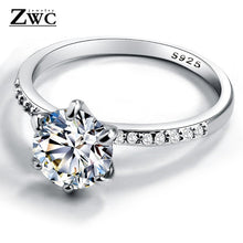 Load image into Gallery viewer, Cubic Zirconia Engagement Style Round Ring (3 styles)