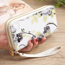 Load image into Gallery viewer, Rose Print Zip-Up Wallet (6 Colors)