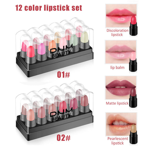 SET OF 12 Long-Lasting Matte Lipstick (4 Sets)