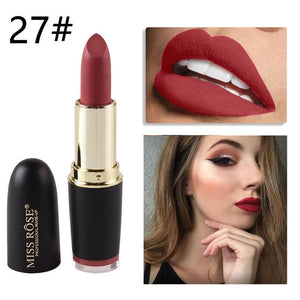 Velvet Waterproof Matte Lipstick (24 Colors)