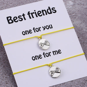 Best Friend Pinky Promise Bracelets- Set of 2