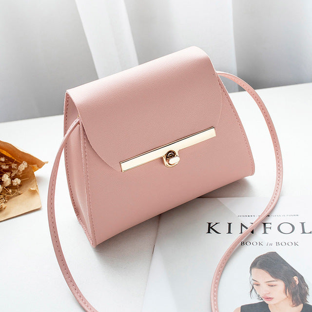 Simple Flap Shoulder Bag (5 Colors)