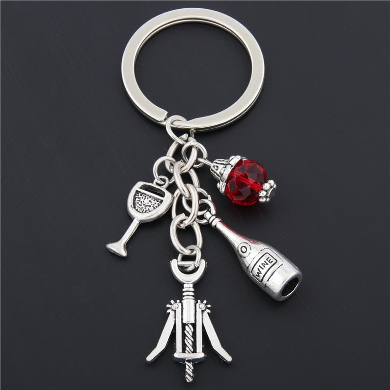 Red Wine Keychain