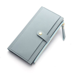 Long Solid Luxury Clutch Wallet (7 Colors)