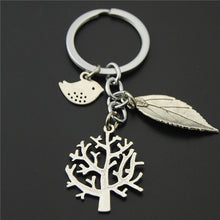Load image into Gallery viewer, Nature, Flower, Tree of Life Keychain (4 Styles)