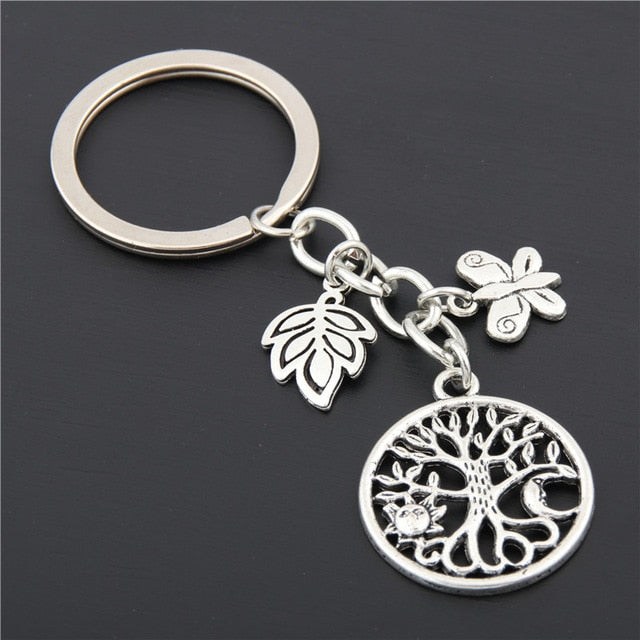 Nature, Flower, Tree of Life Keychain (4 Styles)