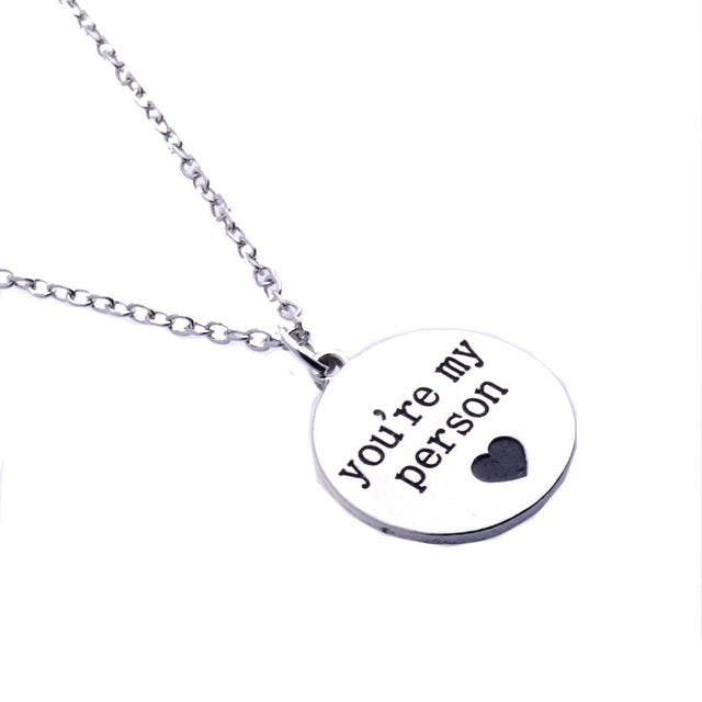 You Are My Person Engraved Necklace (3 Styles)