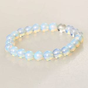 Crystal Moonstone Beaded Bracelet
