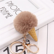 Load image into Gallery viewer, Ice Cream Fluffy Keychains (13 Styles)
