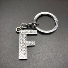 Load image into Gallery viewer, A-Z Letter Glitter Keychain