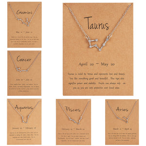 Zodiac Constellation Necklace (12 Styles)
