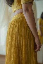 Load image into Gallery viewer, Yellow Gathered Lehenga