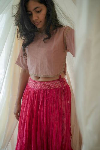 Old Rose Boxy Blouse