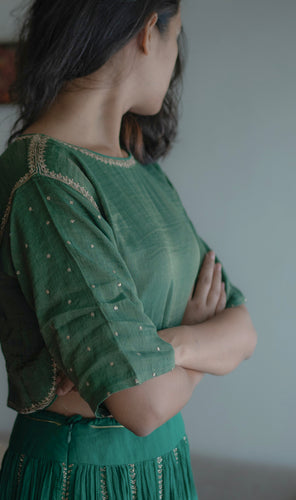 Emerald Boxy Blouse