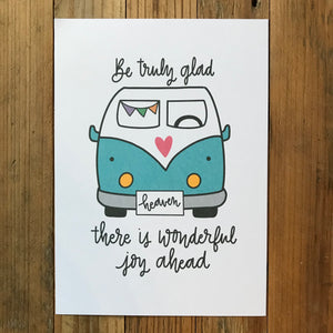 There is wonderful joy ahead - print