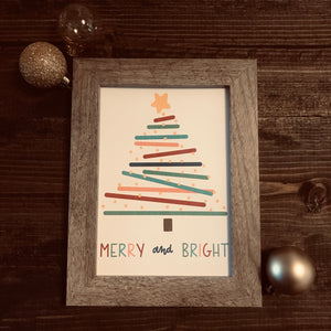 Merry and Bright - print