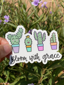 Bloom with grace - sticker