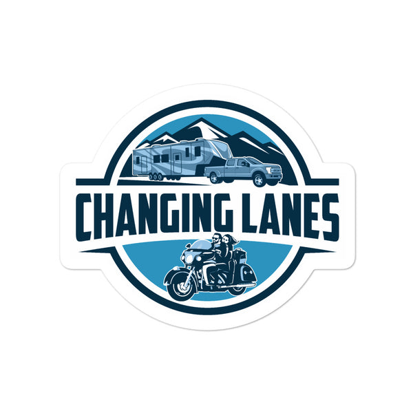 Changing Lanes Logo Bubble-Free Stickers