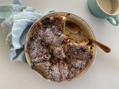 Croissant and chocolate bread and butter pudding recipe