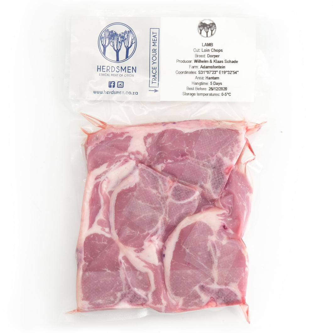 Lamb Loin Chops Pack of 4 x 80g