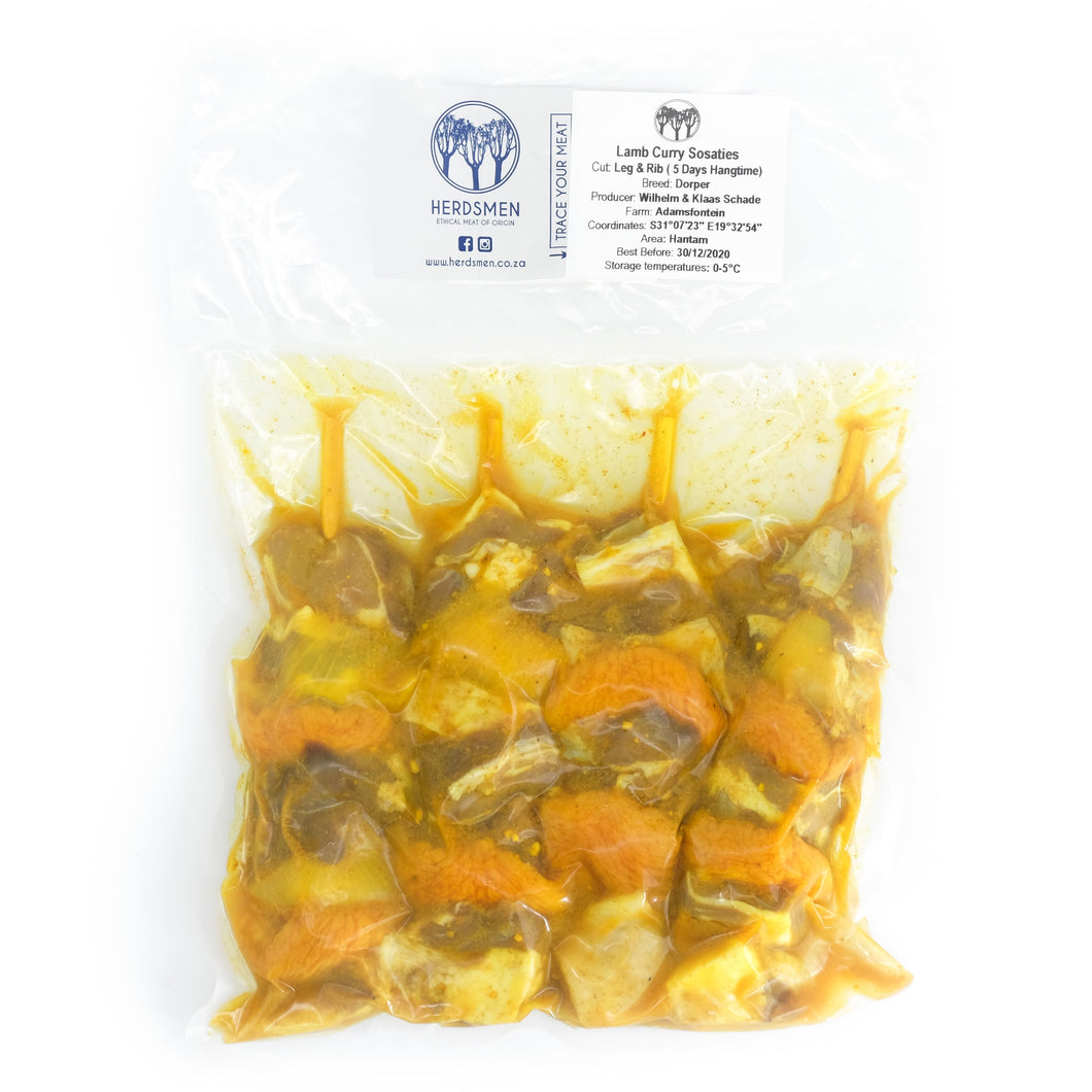 Lamb Curry Sosaties Pack of 4 x 200g