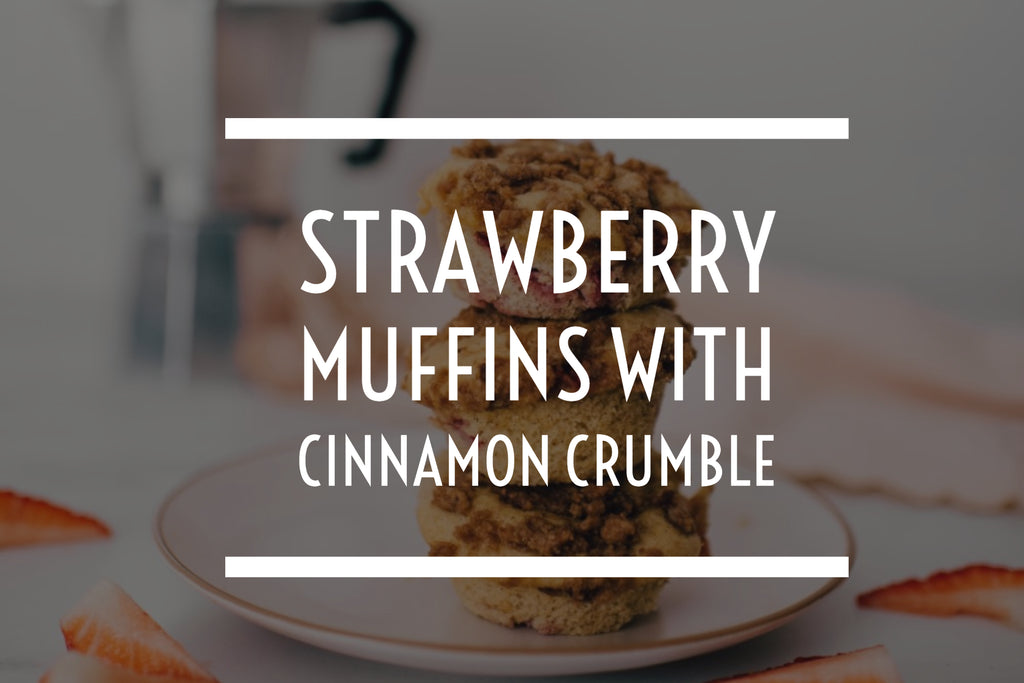 Strawberry Muffins with Cinnamon Crumble