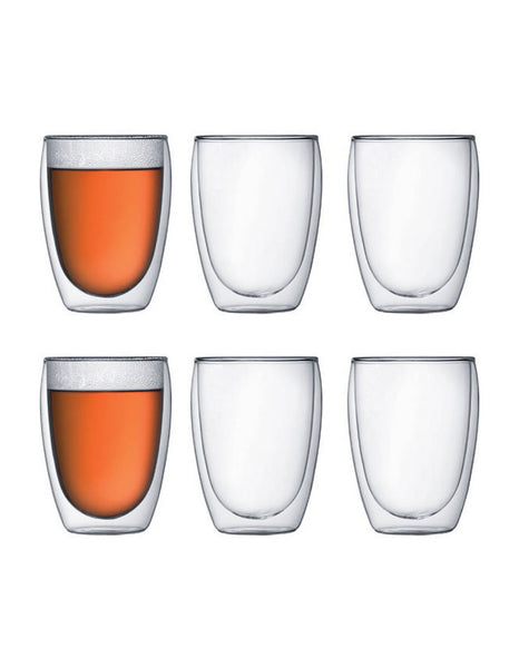 Pavina Double Walled Glasses, 80ml, 250ml, 350ml - Sets of 6