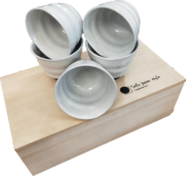 Concept Japan Kobiki 5 Piece Tea Cup Set - Ash Grey