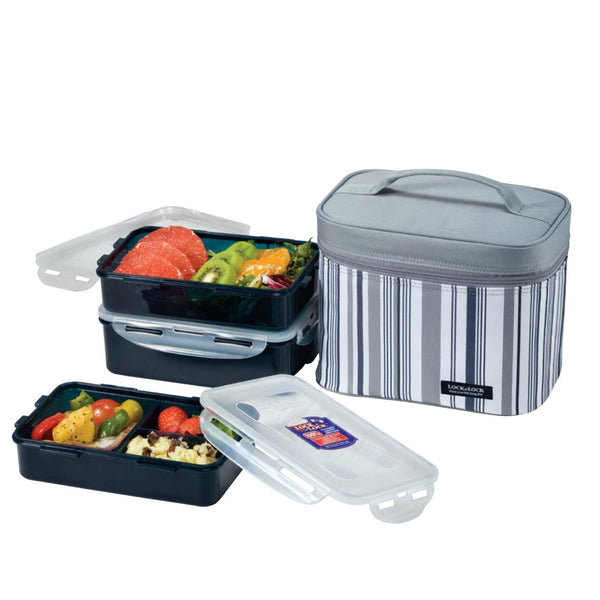 Lock & Lock Lunch Boxes with insulated bag