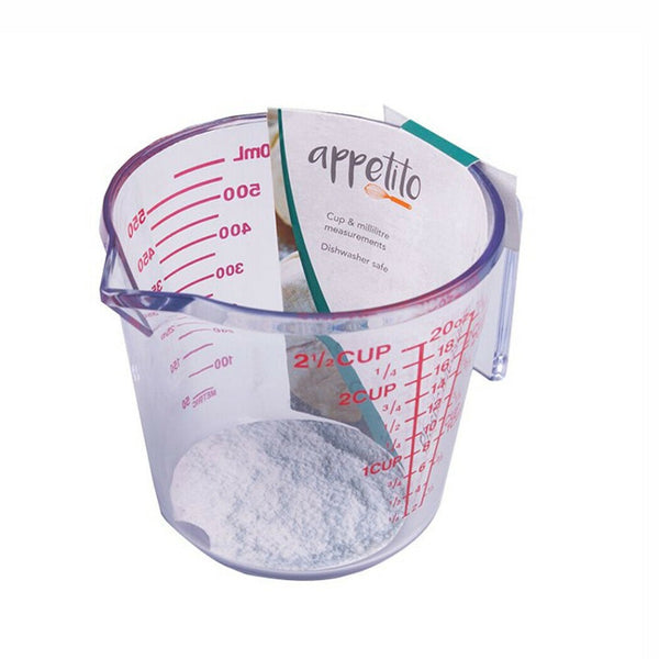 Appetito Plastic Measuring Jugs - 2 Cup/600ml