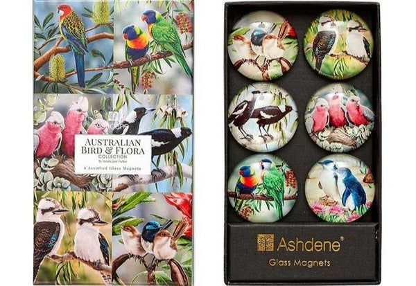 Ashdene Australian Birds Glass Magnet Set 6 Pce