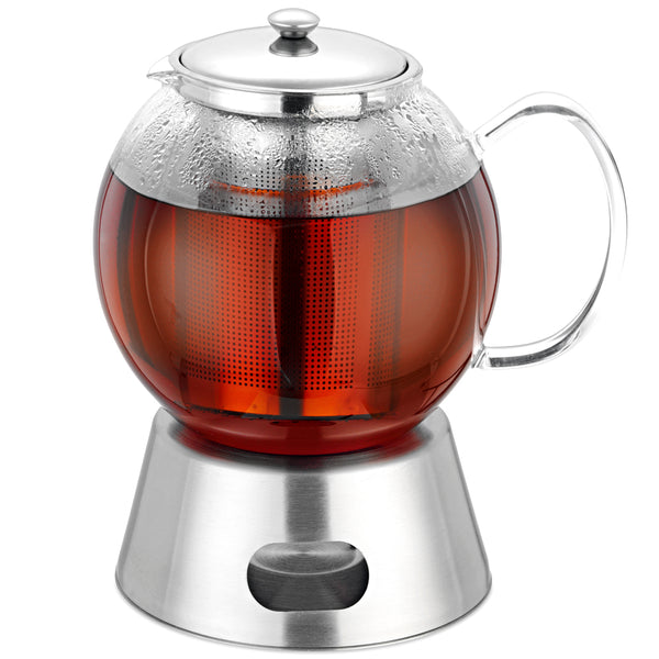 Avanti Glass Teapot with Tealight Warmer 1.3 Litre
