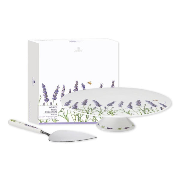 Ashdene Lavender fields Footed Cake Stand and Server