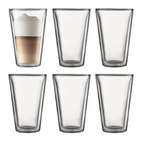 Bodum Canteen Double Wall Thermo-Glass 400ml 6pce Set