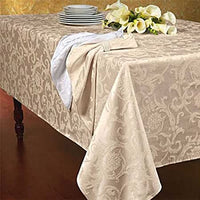 Lintex Royal Scroll Table Cloth 152x264cm - Blush