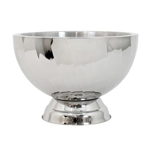 Moore Diagonal Swirl Stainless Steel Punch Bowl/Champagne Bucket