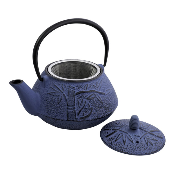 Avanti Teapot Cast Iron Bamboo Navy/Bronze 800ml