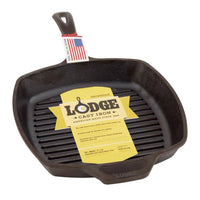 Lodge Square Cast Iron Grill Pan 26cm