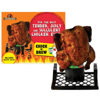 Coyote 'Chick n Brew' S/S BBQ Beer Can Chicken Roaster