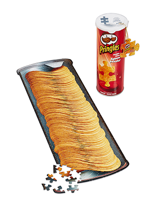 puzzle Pringles double face