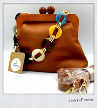 Load image into Gallery viewer, Leather 60's Inspired Handbag