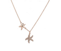 Gold plate with starfish charm necklace