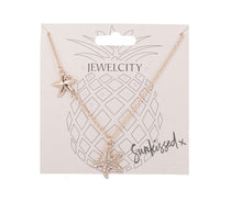 Load image into Gallery viewer, Gold plate with starfish charm necklace