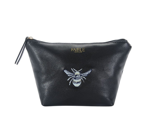 Bumble Bee embroidered large makeup bag
